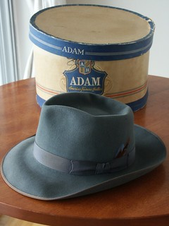 Vintage Fedora and Hat Box
