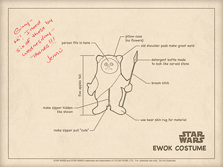 Josh and Jenn's Ewok Costume Instructions