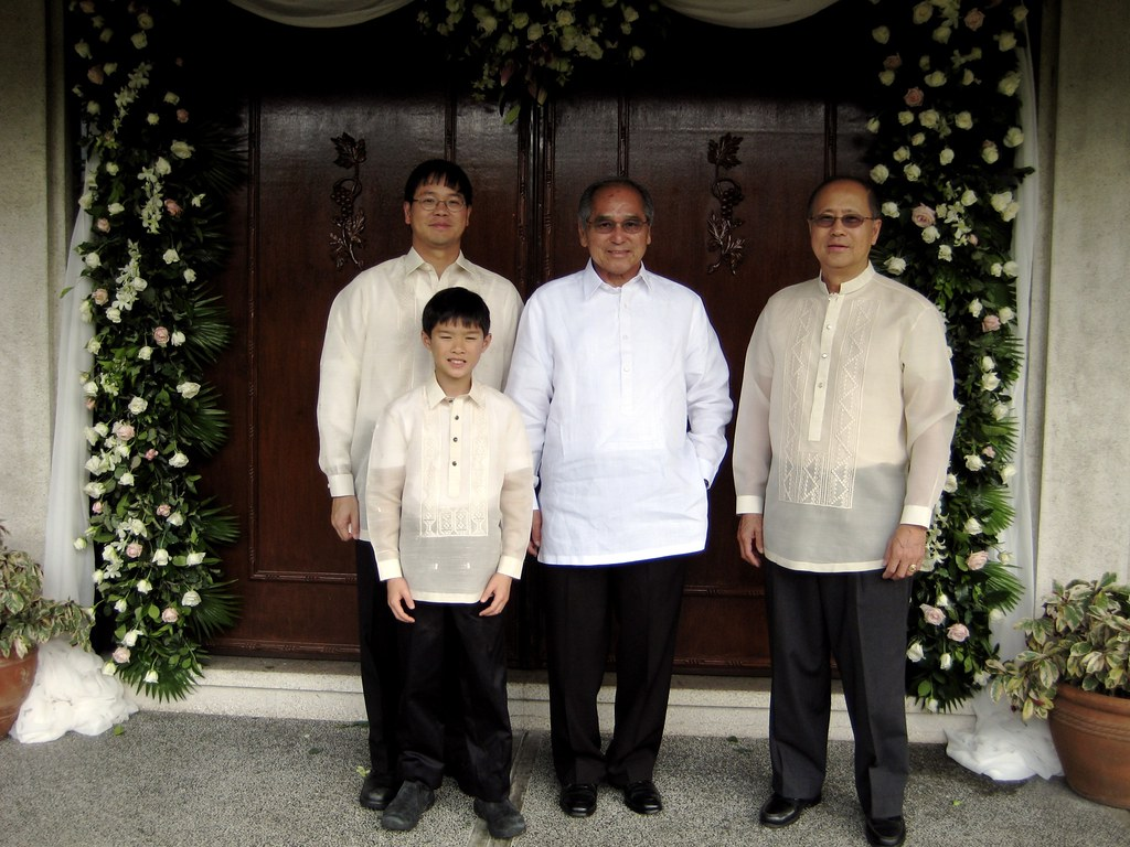 The Boys in their Barong Tagalogs