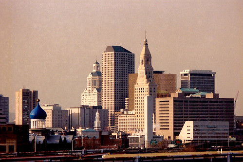 memory lane*; Hartford skyline (Credit: Global Jet on Flickr.com)