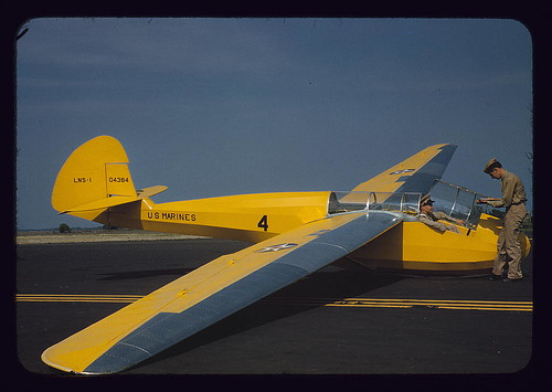 Marine glider in training at Page Field, Parris Island, S.C.  (LOC)
