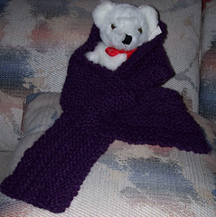 Purple Alpaca Scarf