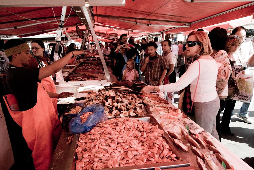 Mercato del pesce di Bergen