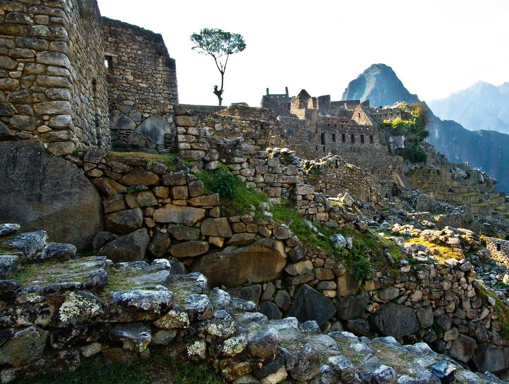 Outside Machu Picchu