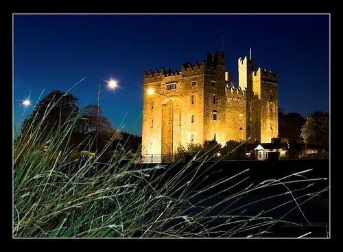 ireland sunset castle heritage clare redbubble