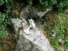 Le cairn style 'western' de la montée à la plaine d'Uovacce