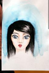 rachel's new bookmark, watercolor by megan    MG 8604