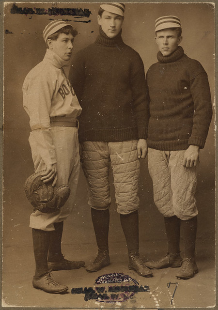 Boston Americans catchers Schreckengost, McLean and Criger
