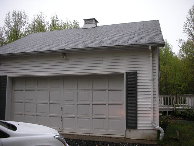 Two car garage one big door by dareneilert flickr for How big is a 2 car garage door