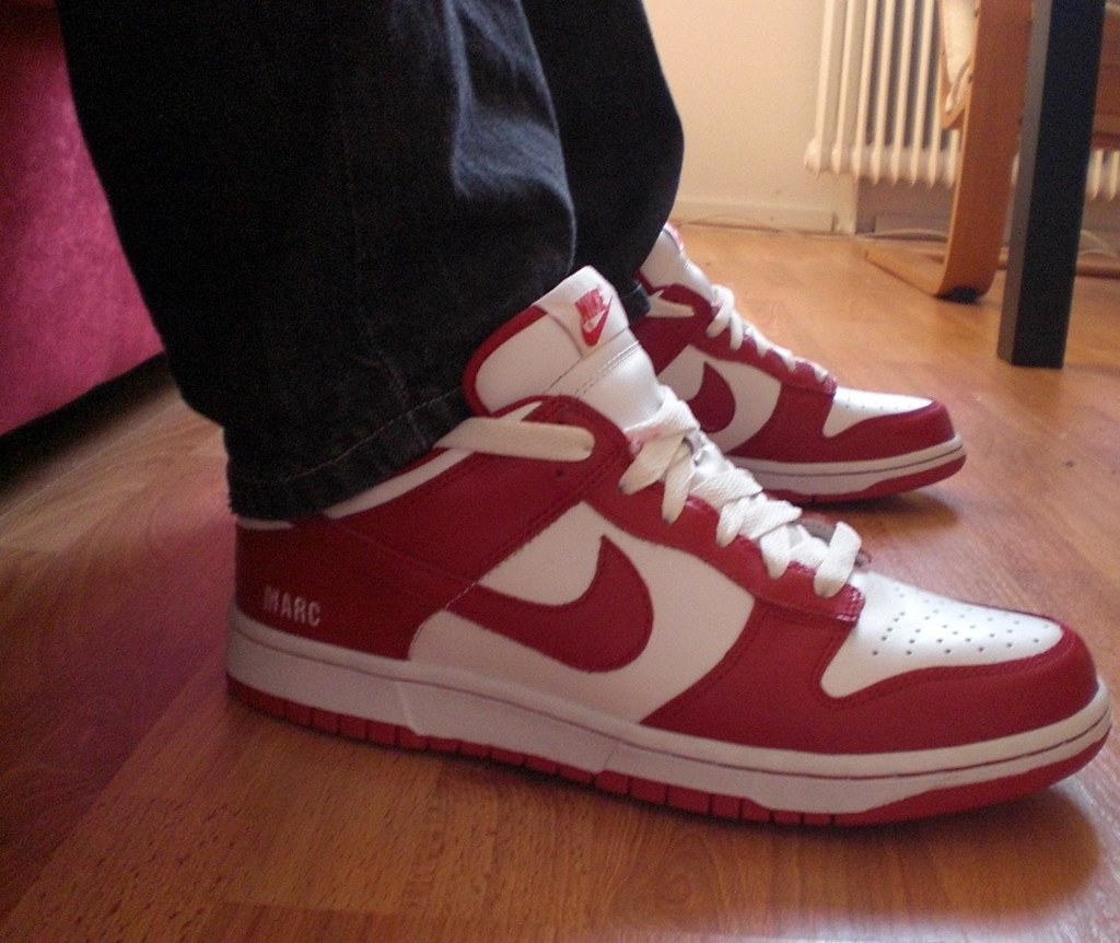 White Varsity Red Nike Dunk Low  f77bb544d