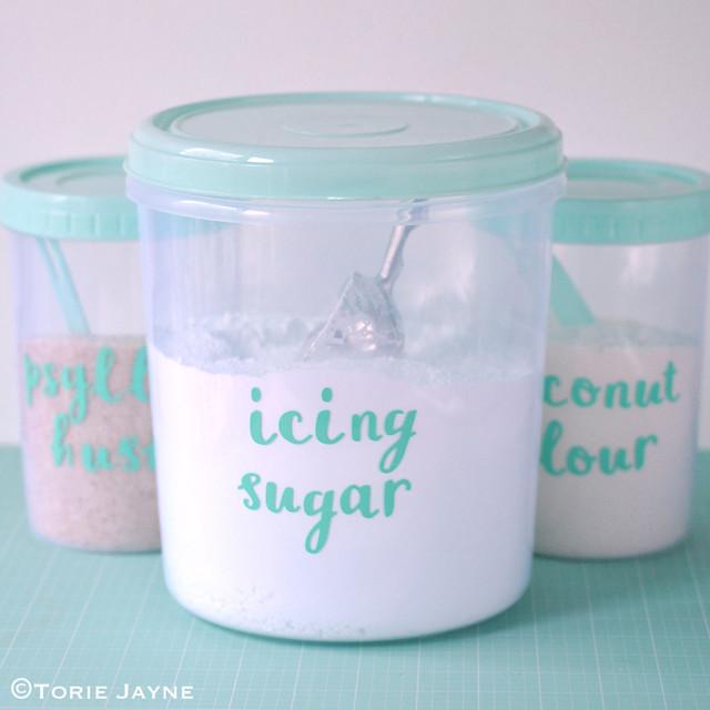 Die-cut Jar labels