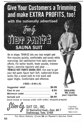 Trim-Ez Hot Pants Sauna Suit
