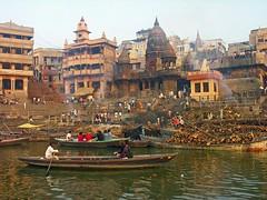 [フリー画像素材] 建築物・町並み, 宗教施設, 風景 - インド, インド - ワーラーナシー, ガンジス川 ID:201201152200