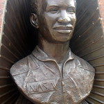 NYC - Brooklyn - Crown Heights: Dr. Ronald McNair Park - Dr. Ronald E. McNair Monument