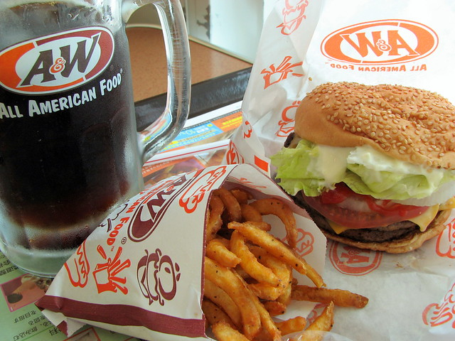 A&W Bigger Double Cheeseburger