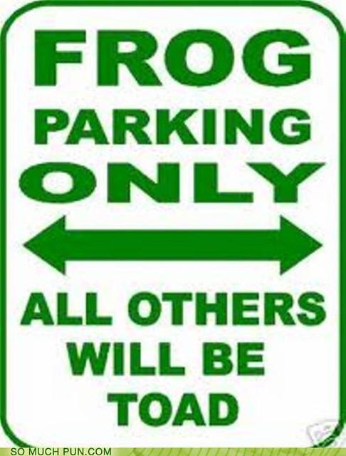 funny-puns-frog-parking | Flickr - Photo Sharing! Frog Puns