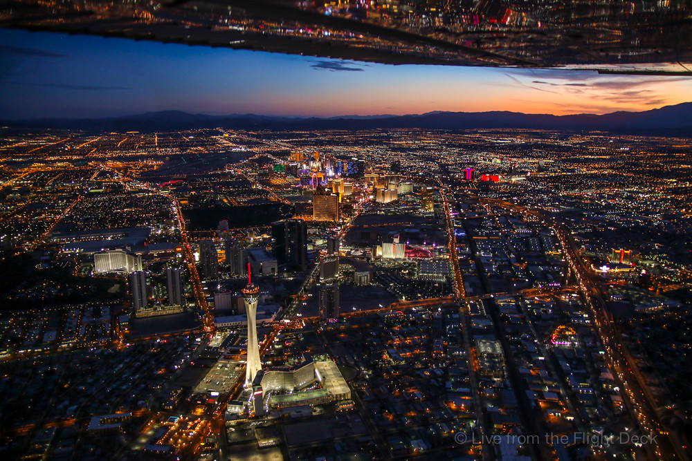 Las Vegas strip from above