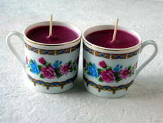 Homemade Gifts Teacup Candles