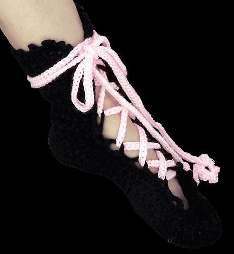 Ballerina Slippers - Crochet Pattern Flickr - Photo Sharing!