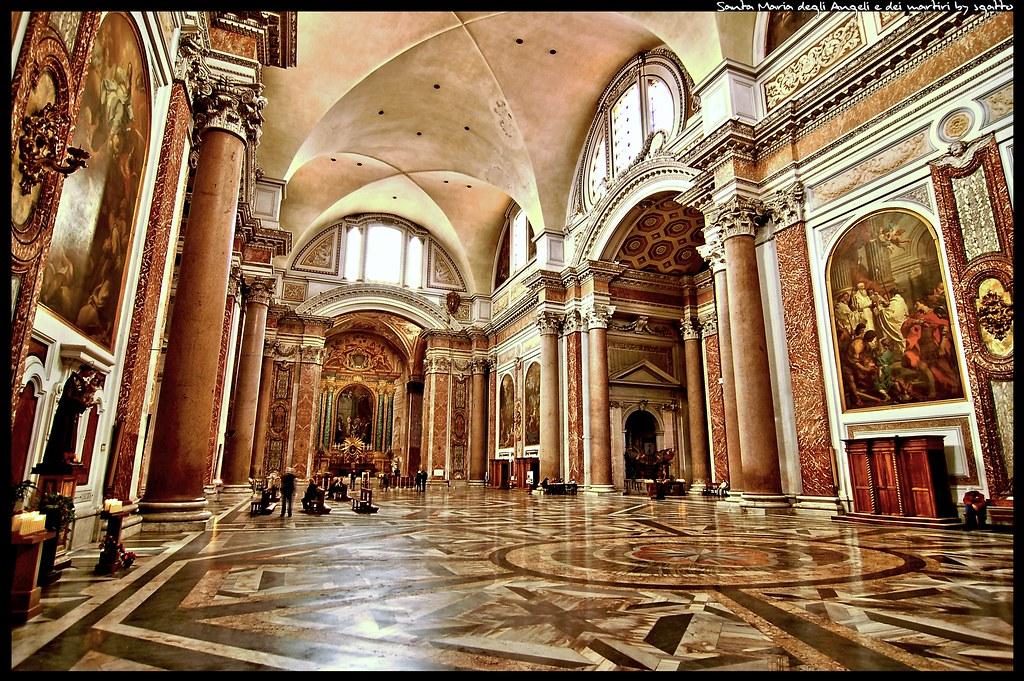 Basilique Santa Maria degli Angeli e dei martiri à Rome - Photo de Leonardo Sgatto