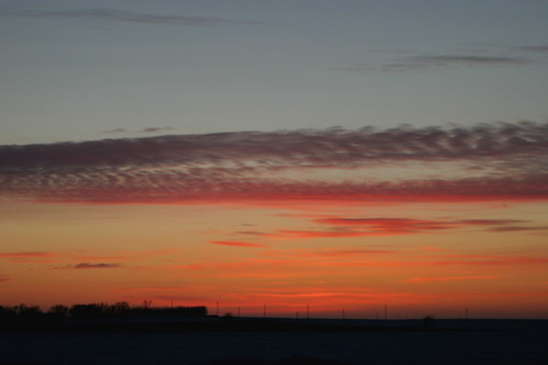 pink blue winter sunset sky orange clouds january iowa markevans chimothy27