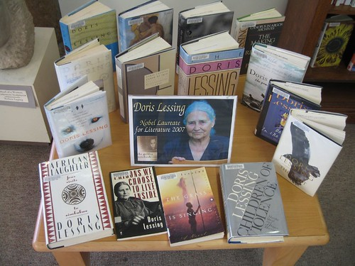 Doris Lessing -- Nobel Laureate for Literature display