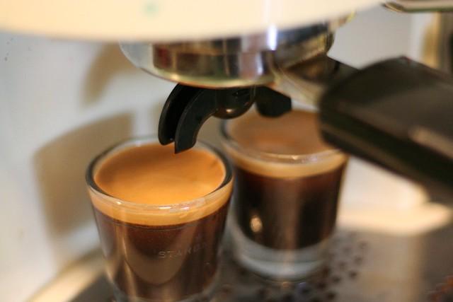 The resulting espresso