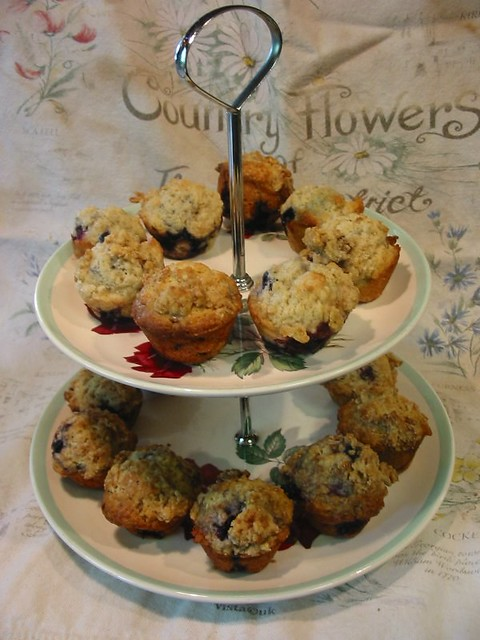 Berry Mini-Muffins on Winnie's Tier