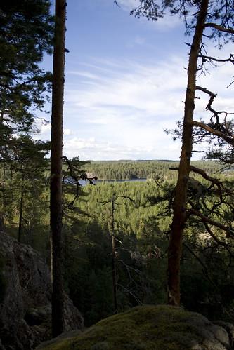rock landscape la high view isle saimaa