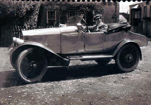 c.1930 Dad in vintage car (ie, vintage when photo was taken).