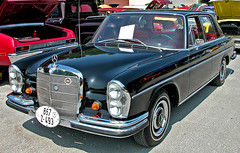 mercedes-benz w114(0.0), studebaker silver hawk(0.0), compact car(0.0), convertible(0.0), automobile(1.0), automotive exterior(1.0), vehicle(1.0), automotive design(1.0), mercedes-benz w108(1.0), mercedes-benz(1.0), mercedes-benz w111(1.0), antique car(1.0), sedan(1.0), classic car(1.0), vintage car(1.0), land vehicle(1.0), luxury vehicle(1.0), motor vehicle(1.0),