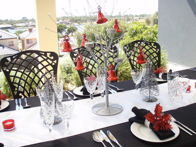 Christmas lunch table setting flickr photo sharing for Christmas lunch table setting ideas