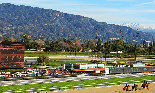 Santa Anita Race Track It Was Such A Clear And Gorgeous