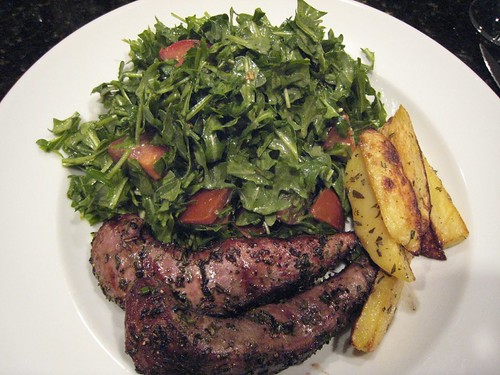lamb, tenderloin, arugula, potato IMG_1820