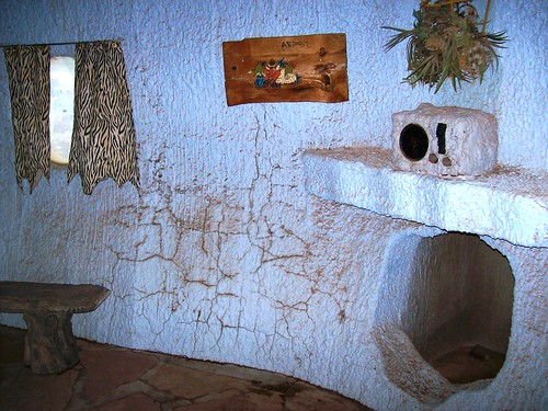 Inside the Flintstone's house at Bedrock City, Arizona - a little worse for wear (bedrock25xy)