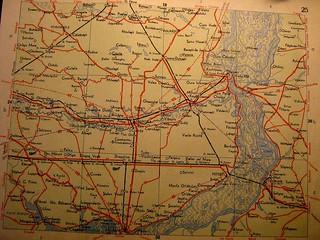 1960 map of the lower Danube wetlands.