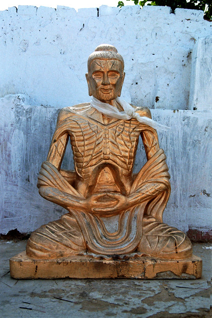 Ascetic Buddha India Flickr Photo Sharing
