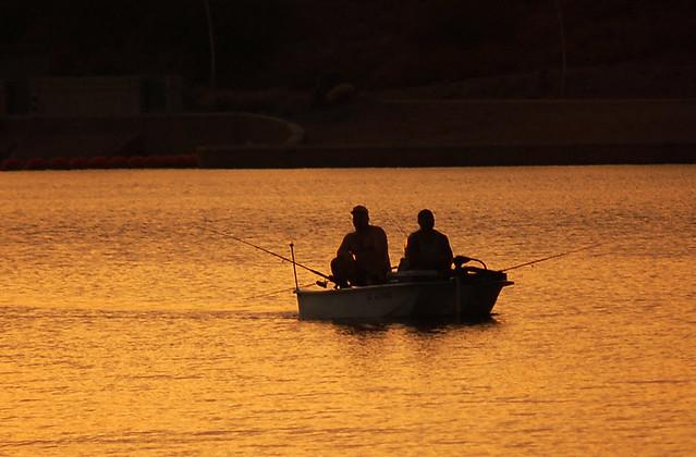 Fishing at sunset tempe town lake arizona flickr for Tempe town lake fishing