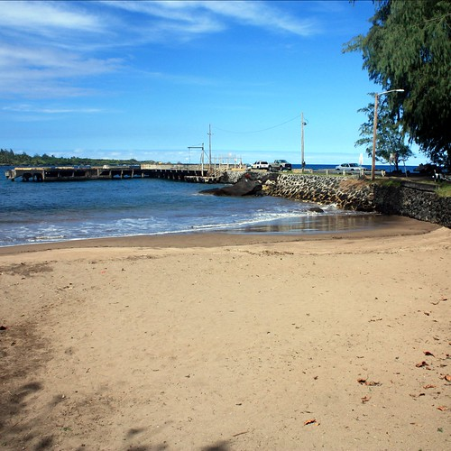 The pier at Hana Bay, popular with local fishing vessels.