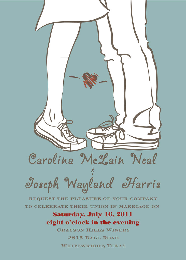 Wedding Invite Funny with adorable invitation example