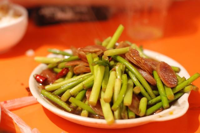 蒜苔炒香肠