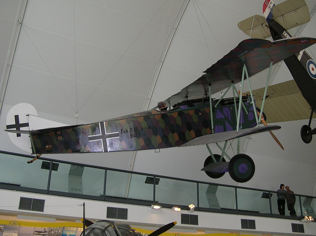 RAF Museum013 - Milestones of Flight Collection - WWI - German - Fokker DVII - Fighter - 1918