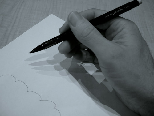 Shadow of a Writing Hand