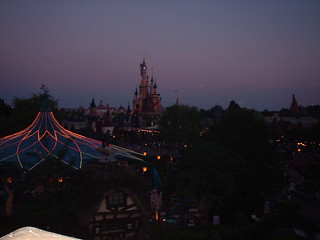 Eurodisney at dusk