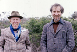 Archaeologists Oliver Davies and Merrick Posnansky near Elands Bay, South Africa
