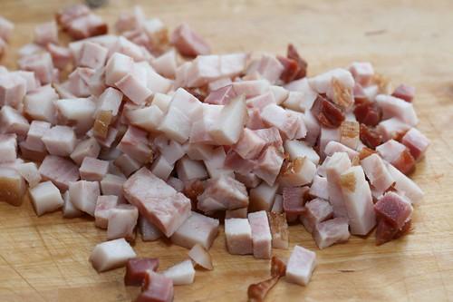 Cubed smoked pork cheek / Suitsupõsk, vastlapudru jaoks