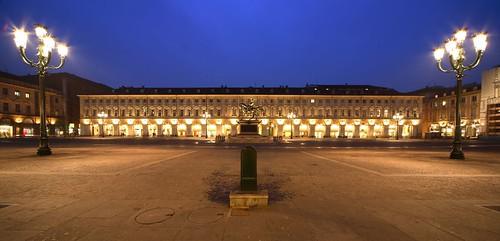 """Piazza cavour, milano from the book """"La vita operosa - Avventure del '19 a Milano"""" by Massimo Bontempelli"""