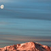 The dawn's early light (Moon over Pikes Peak)