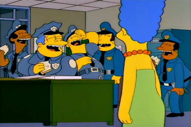 Marge becoming a police officer flickr photo sharing - Police simpsons ...