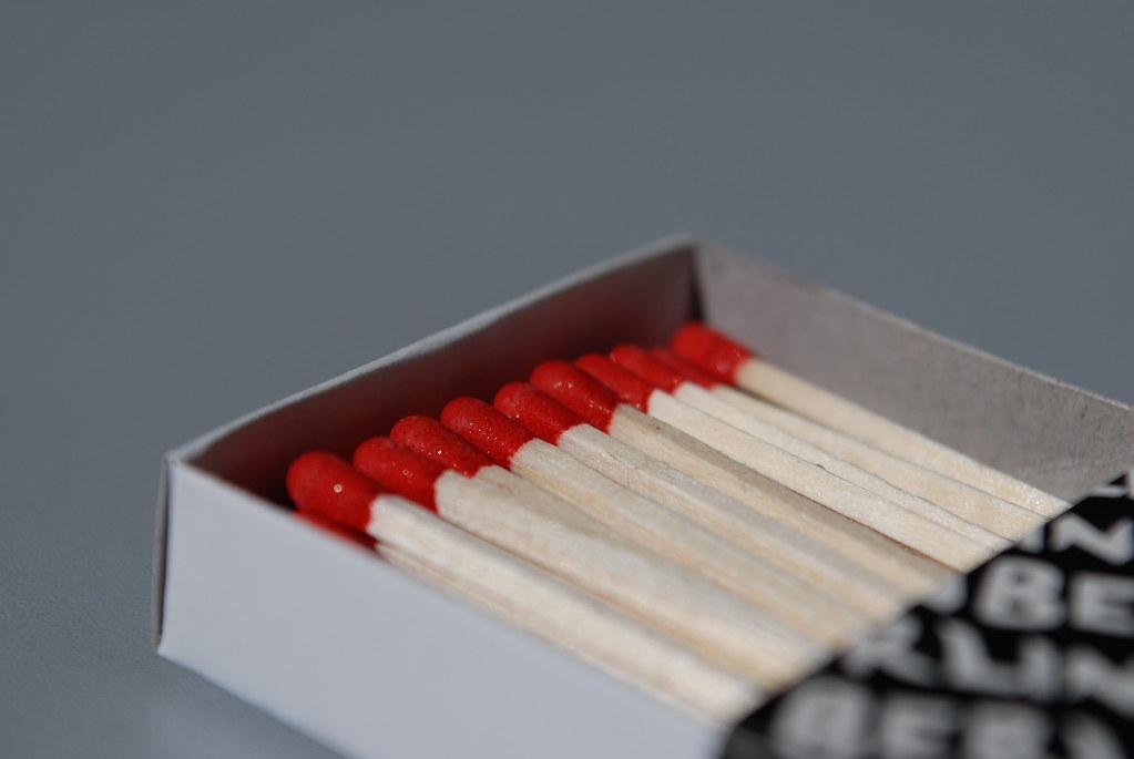 Une boîte d'allumettes ouverte